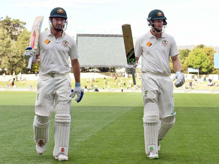 At stumps on Day 1, Adam Voges was unbeaten on 174 with Shaun Marsh not out 139 in a unbeaten fourth-wicket partnership of 317.