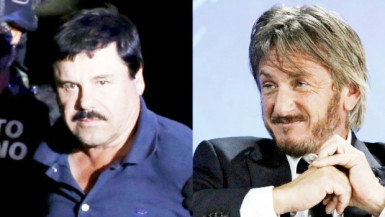 Mexican drug lord Joaquin (El Chapo) Guzman (left) met with U.S. actor Sean Penn (right) in his hideout in Mexico months before his recapture by Mexican marines in his home state of Sinaloa, according to Rolling Stone magazine. (Edgard Garrido/Reuters, Stringer/Reuters)