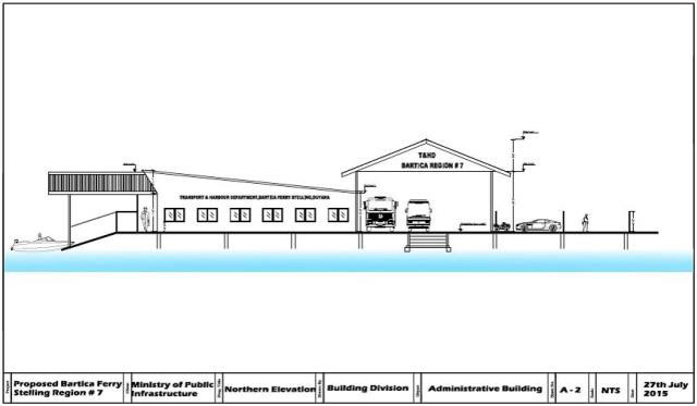 Bartica stelling being re designed stabroek news a blue print of the redesigned bartica stelling via gina malvernweather Choice Image