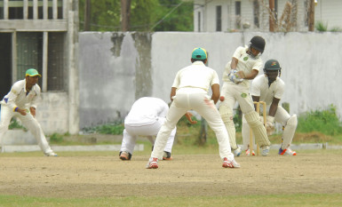Action in the match yesterday