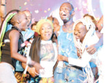 Calypso Monarch 2016, Devon Seale reacts following the announcement of results in the competition at the Queen's Park Savannah, Port-of-Spain on Sunday. Seale walked away with the $1 million first prize on the night.
