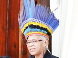 PPP/C MP Yvonne Pearson with her headdress