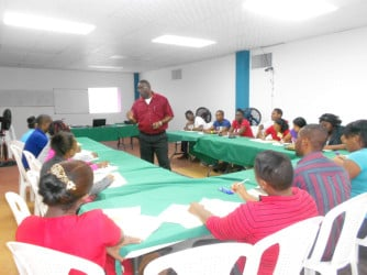 Kirk Clarke conducting a seminar
