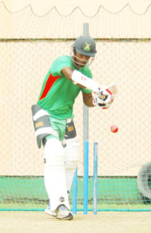Robin Bacchus could make his four-day debut today against the Red Force and prepared himself with a good net session yesterday.