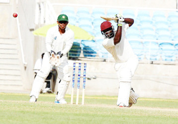 Montcin Hodge stroked an unbeaten 62 to keep the Hurricanes innings together.