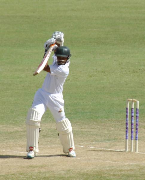 Vishaul `Cheesy' Singh yesterday struck an unbeaten century, his second against Trinidad and his third this season.