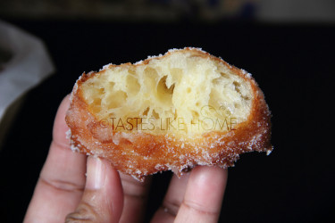 The doughnut is soft, light, and melts in your mouth (Photo by Cynthia Nelson)