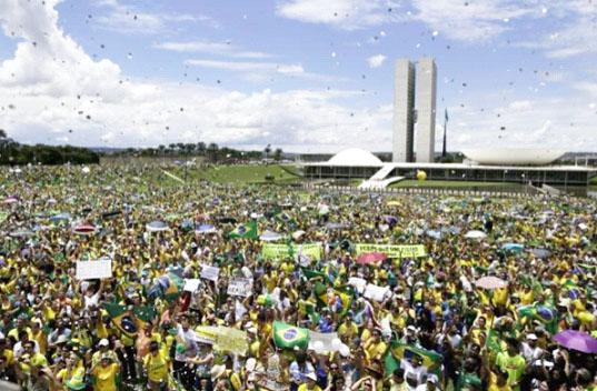 Record Brazil Protests Put Rousseffs Future In Doubt Stabroek News - Brazil's tallahassee