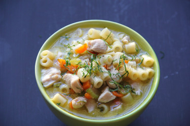 Chicken-noodle Soup with homemade stock (Photo by Cynthia Nelson)
