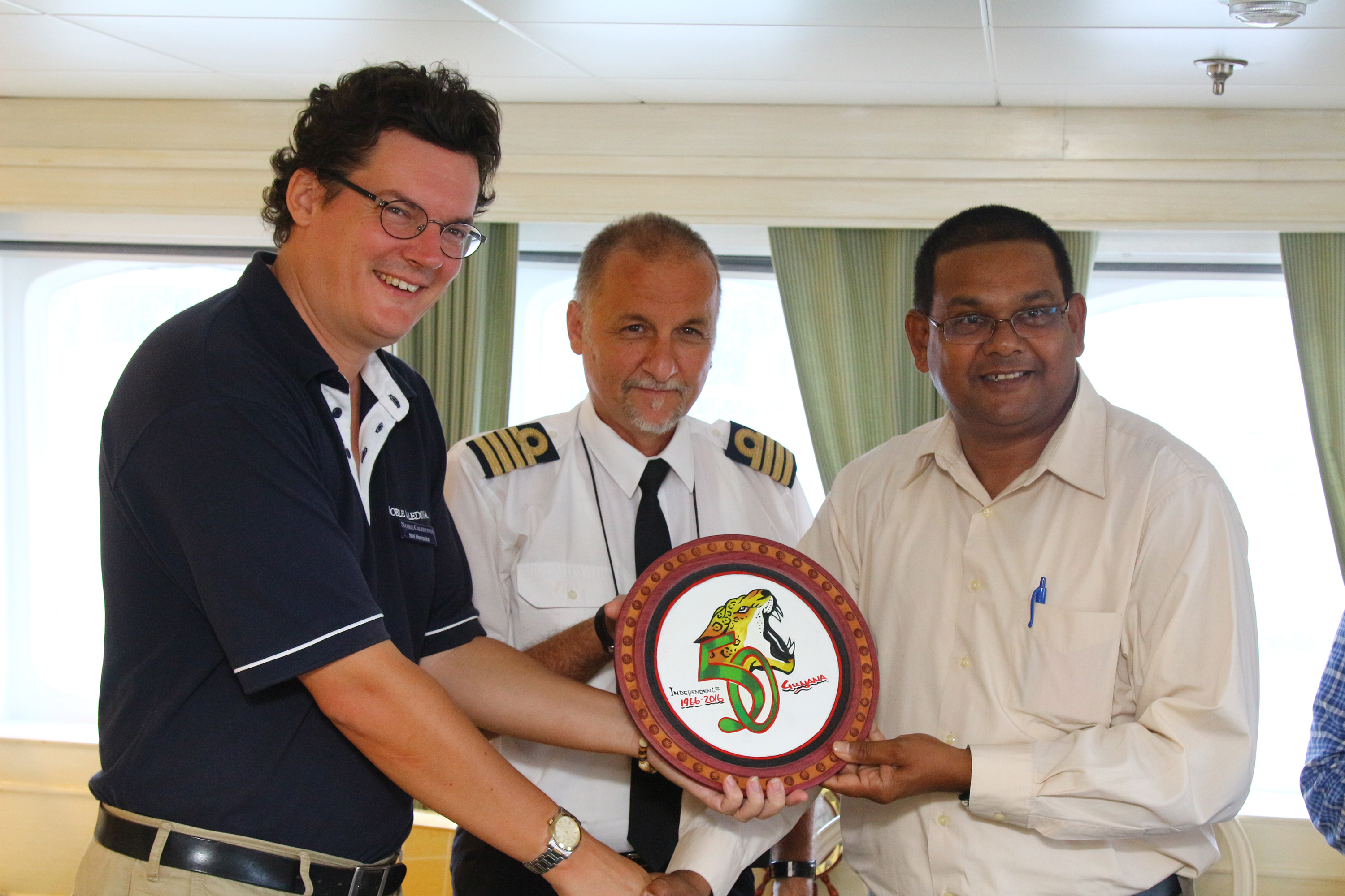 Guyana Welcomes Third Cruise Ship This Year Stabroek News - Staff on a cruise ship