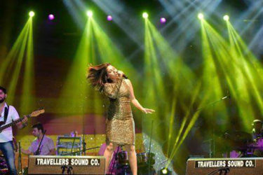 Sunidhi Chauhan performing live at the Guyana National Stadium. (Photo by Amanda Richards)