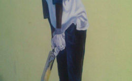 Painting cricket heroes – a work in progress