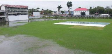 The Bourda ground was under water yet again this week.
