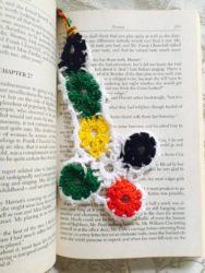 A crocheted bookmark by an inmate of the Berbice women's prison