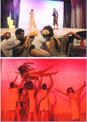 Scenes from the Free Souls Dance Theatre Company's production 'This is Guyana'