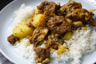 Beef Curry with Rice (Photo by Cynthia Nelson)