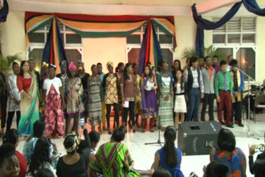CPCE's Choir performing at the institution's Night of Reflection (GINA photo)