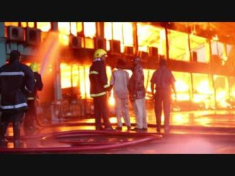 Fire guts Gafoor's Houston Complex