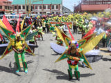 This band titled 'The energy of Independence' was one of the large bands in the Jubilee float parade. The Guyana Amazon Warriors band which was designed by Jermain Broomes had over 500 persons. Its sections depicted the glories of past Guyanese cricketers such as Carl Hooper and the newly crowned under 19 West Indian Champions in the Cricket World Cup.