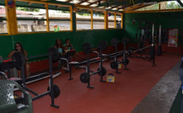 Some of the equipment at the newly opened gym in Mahdia, Region Eight  (GINA photo)