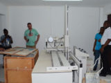 The x-ray machine at Parika Health Centre already set up (GINA photo)