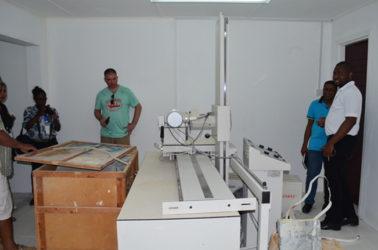 The x-ray machine at Parika Health Centre already set up (GINA photo)