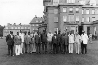 UK Prime Minister James Callaghan and Commonwealth leaders at the Gleneagles Hotel in Scotland in 1977 (Commonwealth photo)