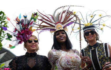 Lystra Adams and friends at the Royal Ascot