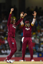 Off-spinner Sunil Narine (left) will be a key member of the West Indies attack.