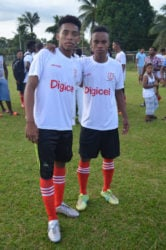 Kwakwani goal scorers form left to right Keith and Cassius Campbell