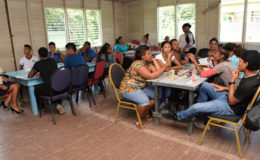 Participants of the Hinterland Employment Youth Service (HEYS) programme at Hururu Mission, Berbice River (GINA photo)