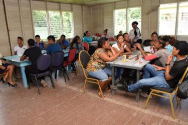Participants of the Hinterland Employment Youth Service (HEYS) programme at Hururu Mission, Berbice River (GINA photo)