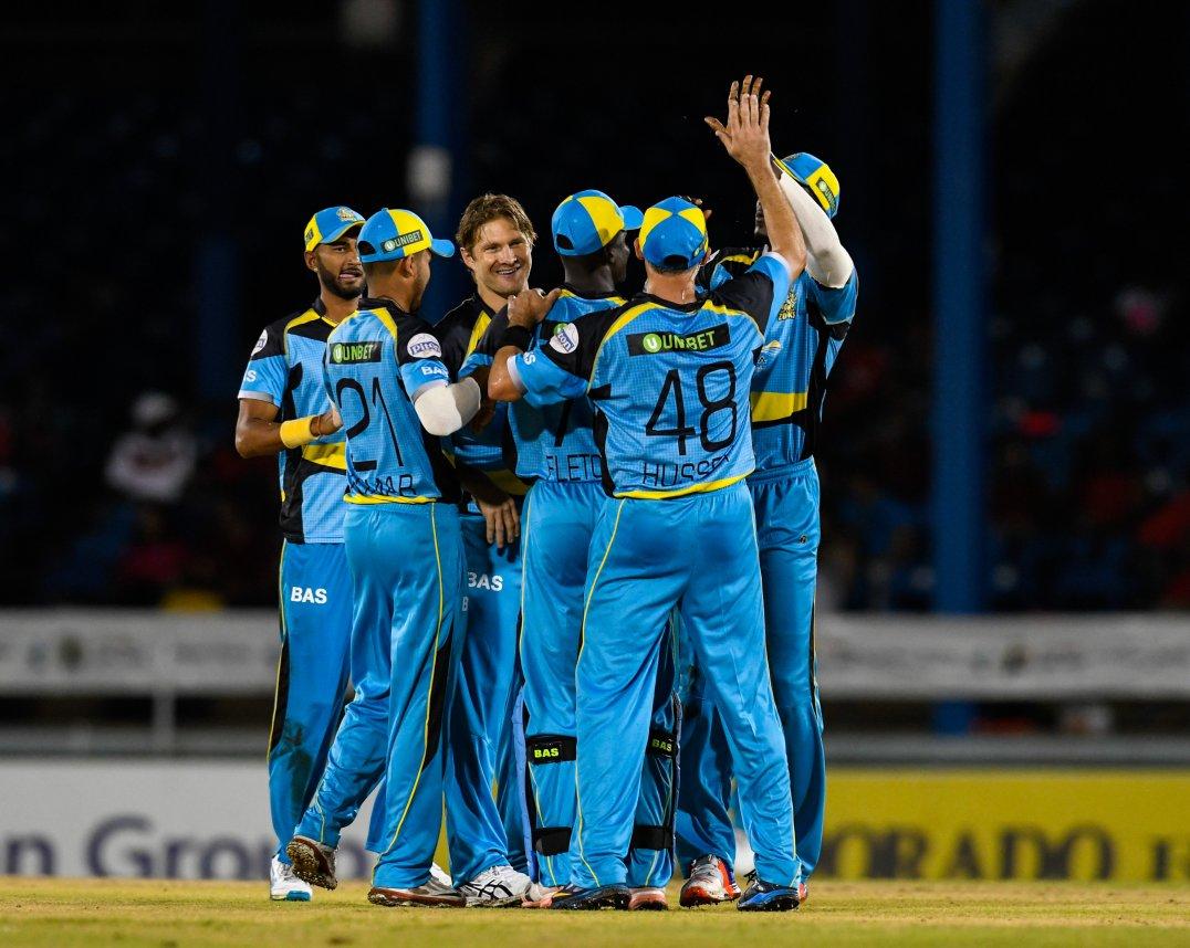 The Zouks celebrate (CPL T20 photo)