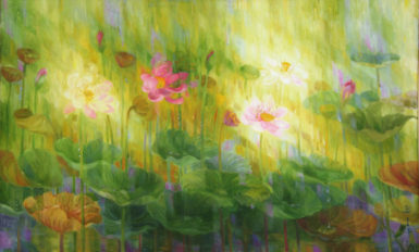 Lotus of July Bernadette Persaud Oil on canvas 1991 (Photo courtesy of the artist)