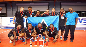 Eastern Caribbean Volleyball Men's U-23 Champs, St Lucia (Photo by Dave George)