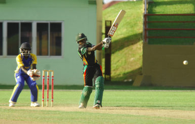 Shemaine Campbell batted well but was unable to save Guyana from their first defeat. (Orlando Charles photos)