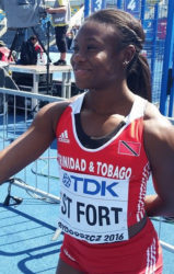 Khalifa St Fort of Trinidad and Tobago … won bronze in the women's 100 metres.