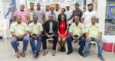 Members of the Boyce/Jefford Committee pose with athletes and Director of Sport, Christopher Jones following the launch of theAugust 27-28event on Saturday at the Giftland Mall.