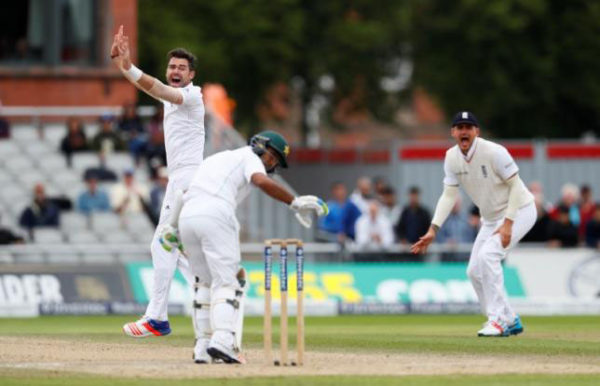 """MANCHESTER, England,(Reuters) - James Anderson, Moeen Ali and Chris Woakes took three wickets apiece as England completed a thumping 330-run win over Pakistan on the fourth day of the second test at Old Trafford yesterday. Chasing a mammoth 565 for victory, Pakistan found batting no easier second time round and were dismissed for 234 in the final session as England levelled the four-match series at 1-1. """"It's quite nice to bounce back and play like that,"""" said captain Alastair Cook. """"You have to consign the last test to the bin. """"Joe Root's performance, stepping up to number three in the order from four, was so controlled. We all know what a world-class player he is, he didn't put a foot wrong."""" Root was named man of the match after following his brilliant 254 in the first innings with 71 not out in the second. Anderson got the ball rolling for England on Monday when he removed Shan Masood for one, the opener edging a ball to Cook at first slip, before he also trapped Azhar Ali plumb lbw for eight. Younus Khan then had a left-off before lunch when he was dropped in the slips by Cook off Ben Stokes. It proved a frustrating day for Stokes who later limped off with a calf injury. Opener Mohammad Hafeez looked reasonably secure but fell on 42 when he was caught by Gary Ballance at short-leg off a full delivery by Moeen. Younus continued to live dangerously and his patience snapped when he tried to launch a Moeen delivery over the long-on boundary but was caught inside the rope by Alex Hales for 28. INSIDE EDGE Captain Misbah-ul-Haq smashed Moeen for six and played aggressively for his 35 before he was bowled by Woakes off an inside edge just before tea. Sarfraz Ahmed was caught down the leg-side by wicketkeeper Jonny Bairstow off Woakes for seven, Anderson trapped Asad Shafiq lbw for 39 and Moeen had Yasir Shah lbw for 10. Wahab Riaz top-edged Joe Root to Cook at short fine leg for 19 and Mohammad Amir, after making an entertaining 29, drove Woakes to Stuart Broad at mi"""