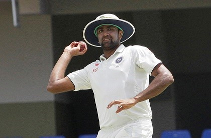 Off-spinner Ravi Ashwin picked up seven for 83 to wreck the West Indies innings. (Photo courtesy WICB Media)