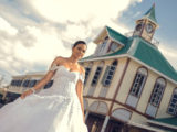 A Keisha Edwards wedding gown (Photo by Infinity Photography)