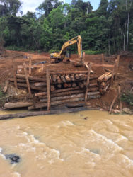 The section of the collapsed bridge that is being restored. (Natural Resources Ministry photo)