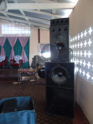 The tampered speakers