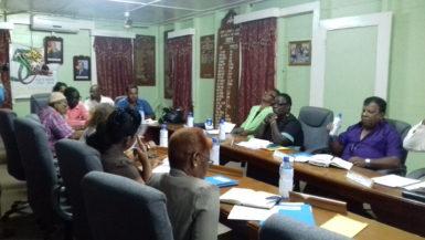 Councillors at last Thursday's meeting