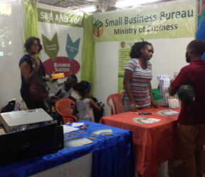 Booths at the Berbice Expo and Trade Fair