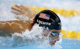 USA's Ryan Lochte competes in the 200m semi-finals of the men's individual medley.(Reuters/Michael Dalder)