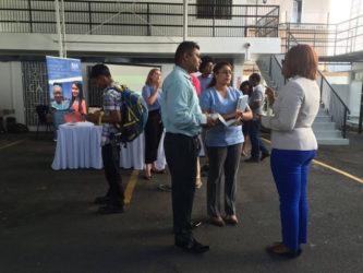 Interested persons gathering information on the Chevening scholarship