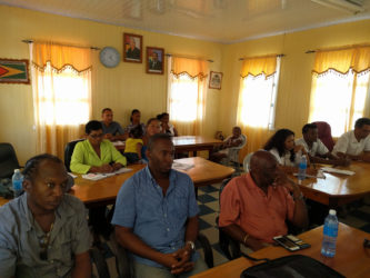 Attendees at the Sun and Sand Scoping meeting.