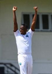 West Indies fast bower Miguel Cummins.