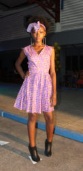 A model wearing a piece from Dara Kehinde's 'Odunayo' collection